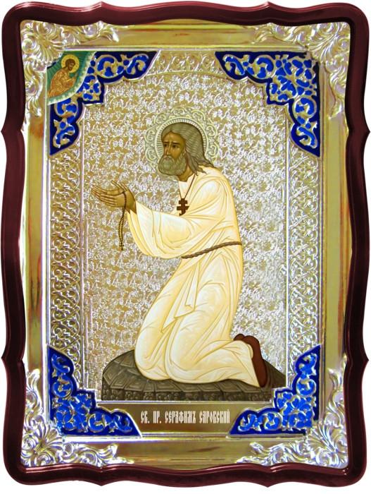 Иконы святителей Святой Серафим на камне (виз)