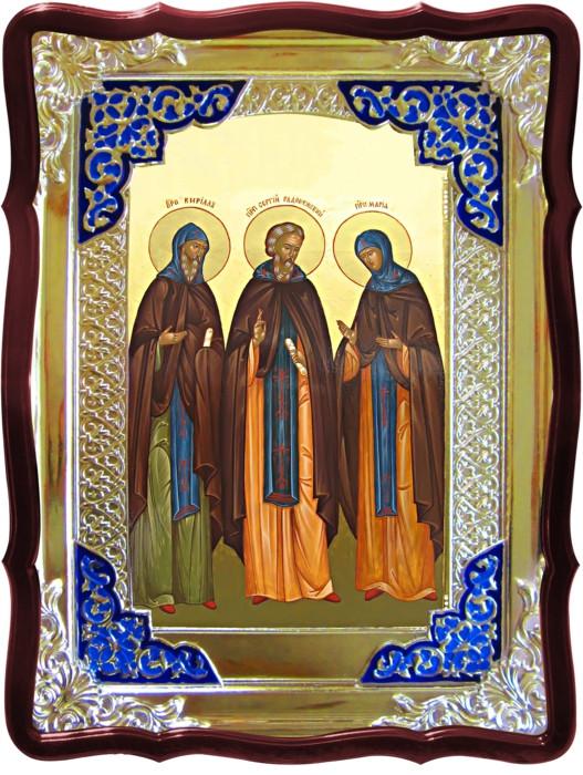 Православные монастыри нуждаются в иконах Святой Сергий с родителями