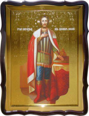 Православная икона Святой Александр Невский (ростовая) для храма