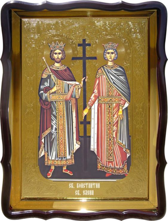 Икона Святые Константин и Елена на православном сайте купить