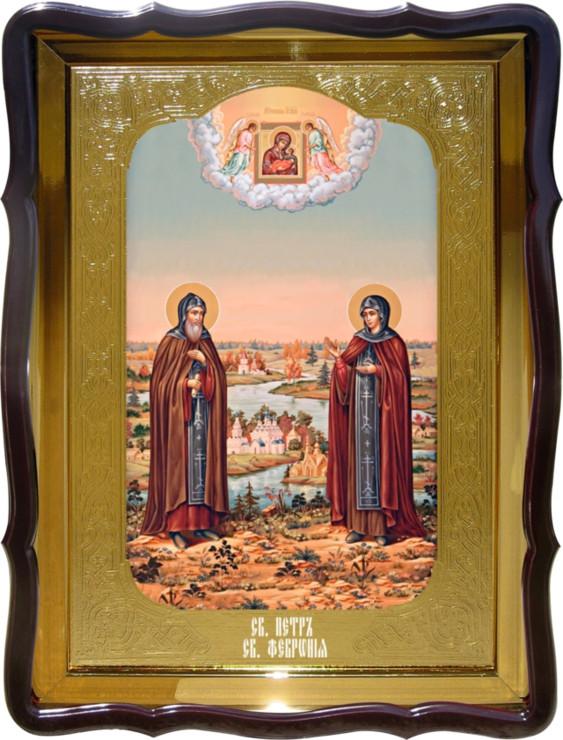 Икона Святой Петр и Феврония для дома или храма