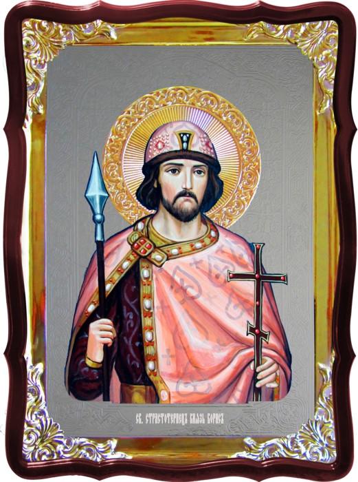 Церковная икона Борис  на заказ в лавке