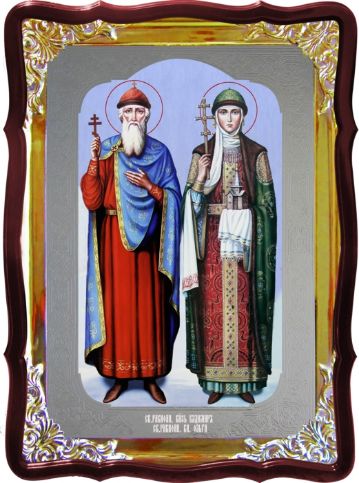 Икона Владимир и Ольга для дома или храма