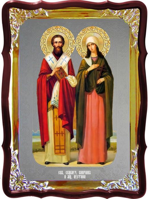 Икона православная Киприан и Устина храмовая