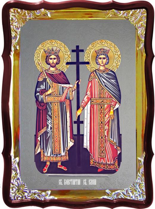 Церковная икона Константин и Елена для собора