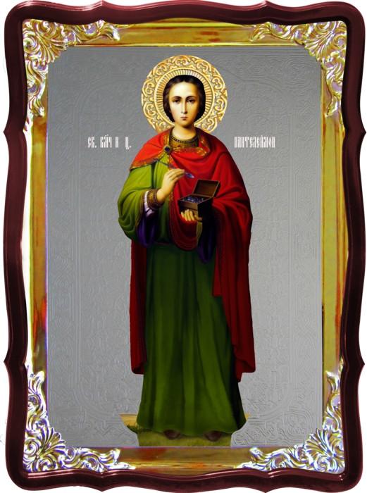 Икона Пантелеймон ростовая для дома или храма