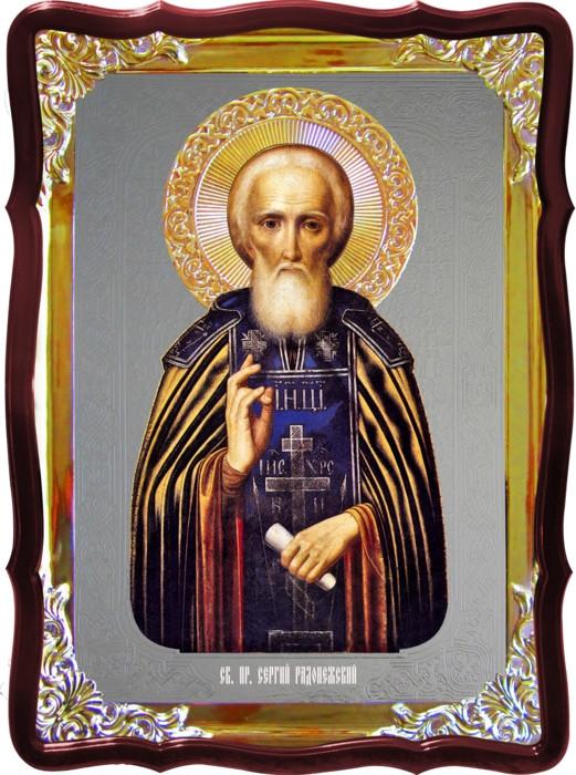 Икона православной церкви - Св. Сергий в православной лавке