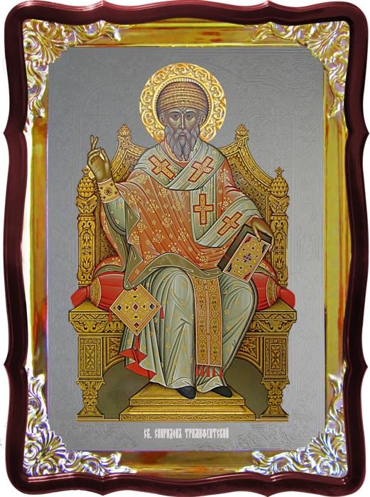 Церковная икона Спиридон тримифунтский на троне и её значение для людей
