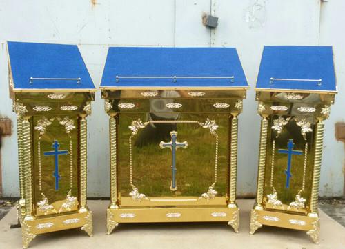 Комплект аналоев из булата с декором (кресты -металлизация)