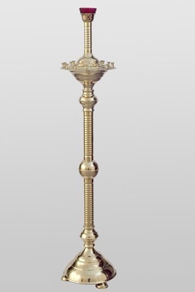 Подсвечник на 22 свечи с прямой трубой основы