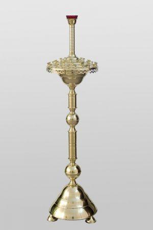 Напольный подсвечник на 43 свечи (латунный)