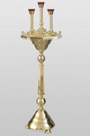 Напольный подсвечник на 50 свечей с тремя лампадами