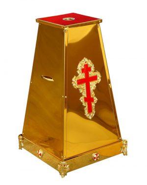 Подставка с литьем для хоругви или креста запрестольного