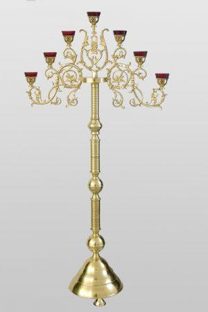 Семисвечник латунный запрестольный для храма