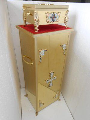 Подставка под ковчег малая из булата (33 на 28 на 82см)