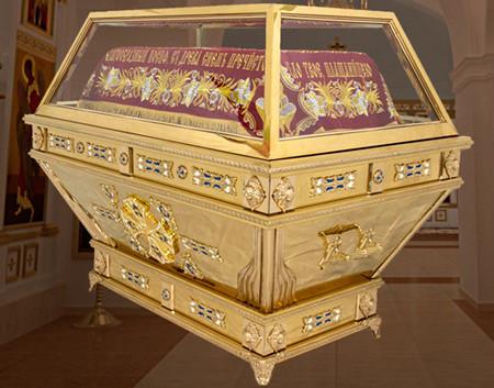 Гробница церковная под плащаницу Спасителя с литьем
