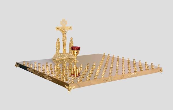 Панахидная крышка с Голгофой на 114 свечей храмовая