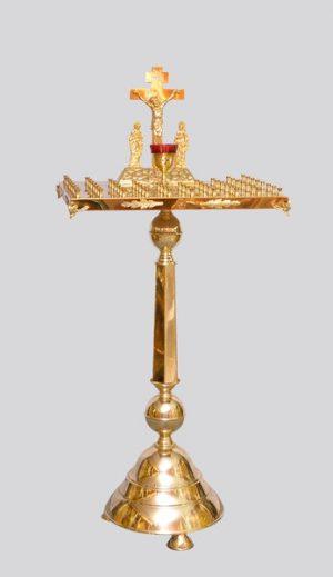 Панихидная крышка на ножке из латуни на 50 свечей