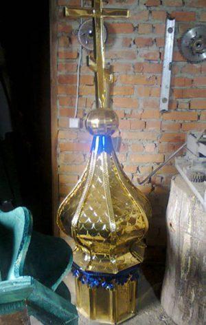Купол из нитрид титана в стиле чешуя