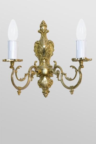 Светильник малый настенный на два рожка с литьем