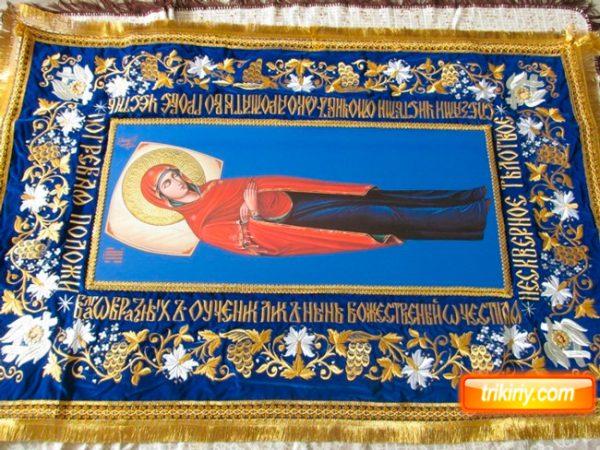 Плащаница Пресвятой Богородицы (икона литография)