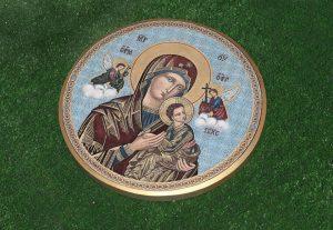 Икона Божией Матери на камне (на заказ)