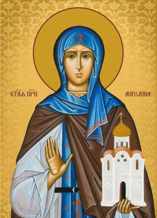 Ікона Свята Ангеліна  ікона для дому