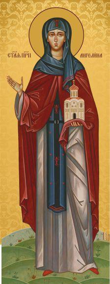Ікона на дарунок Свята Ангеліна  11х23см