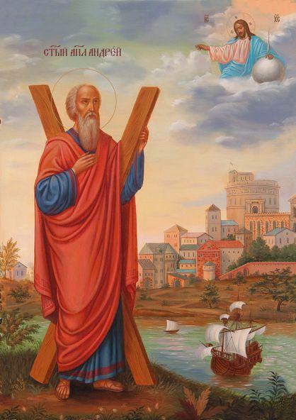 Ікона ручної роботи Святий Андрій