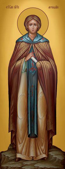 Ікона ручної роботи Святий Аркадій