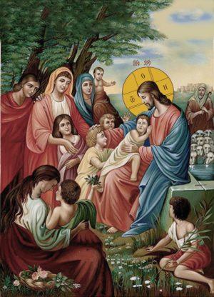 Ікона для дому Благословення дітей Христом