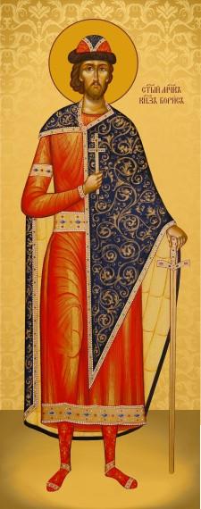 Ікона з росписом Святий Борис