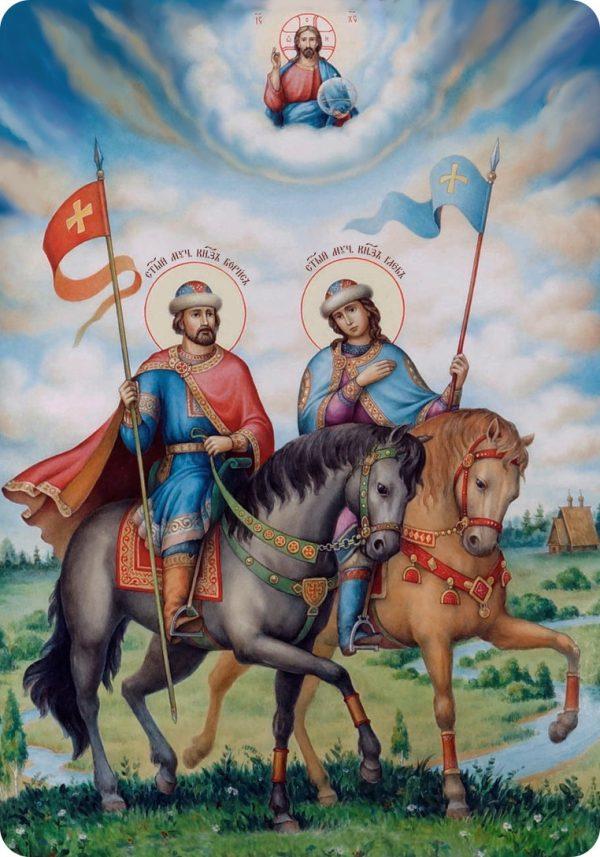 Ікона ручної роботи Святий Борис та Гліб