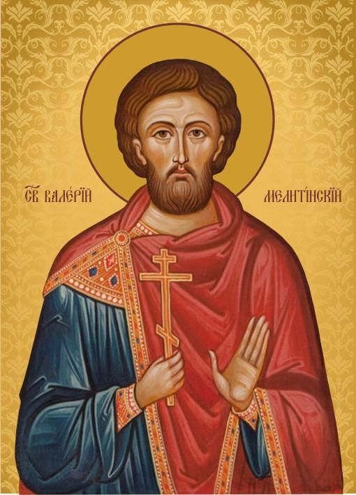 Ікона на дереві Святий Валерій Мелітинський