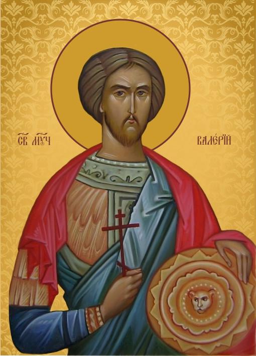 Ікона ручної роботи Святий Валерій
