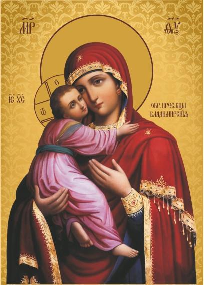 Ікона ручної роботи Володимирська Богородиця