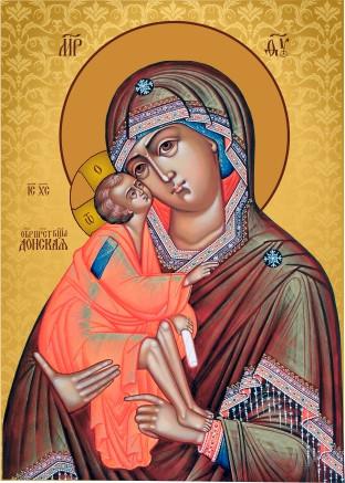 Ікона на дереві Святий Донська Богородиця