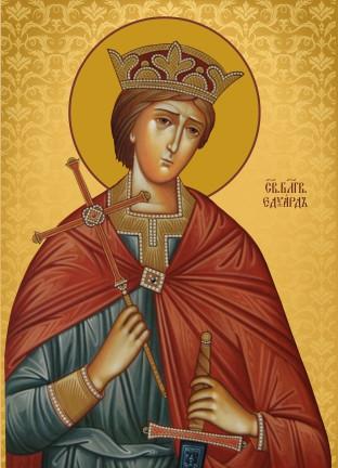 Ікона з росписом Святий Едуард