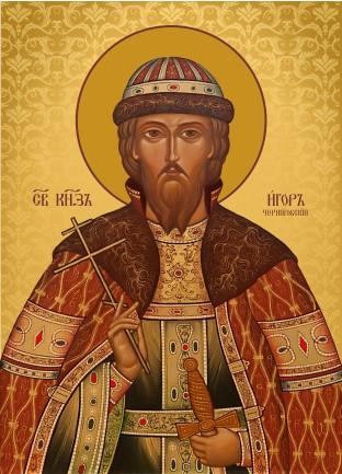 Ікона з росписом Святий Ігор  Чернігівський