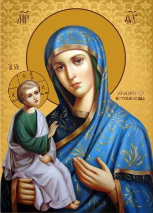 Ікона ручної роботи Ієрусалимська  Богородиця