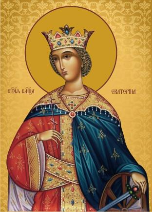 Ікона з росписом Свята Катерина