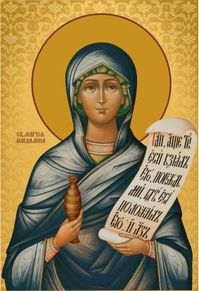 Ікона на дереві Свята Марія  Магдалина