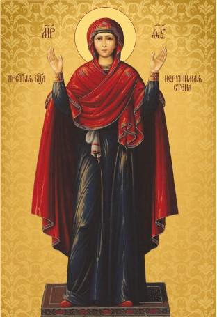 Ікона з росписом Нерушима  стіна