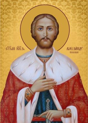 Ікона для дому Святий Олександр  Невський