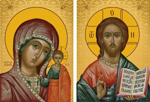 Ікона церковна Пара вінчальна (на заказ)