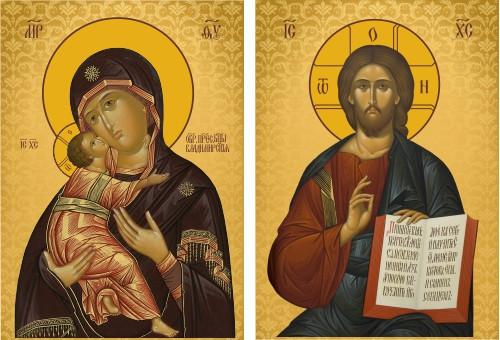 Ікона православна Пара вінчальна (на заказ)
