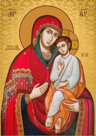 Ікона ручної роботи Святогірська  Богородиця