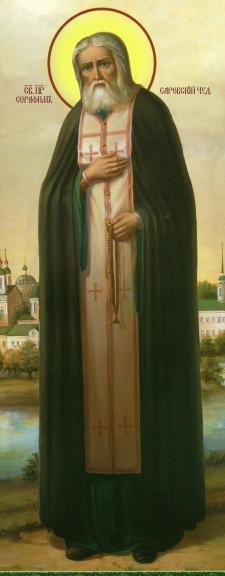 Ікона з росписом Святий Серафим  Саровський