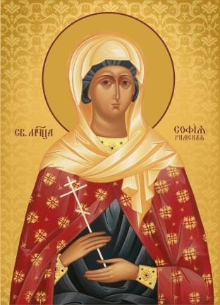 Ікона на дереві Свята Софія  Римська