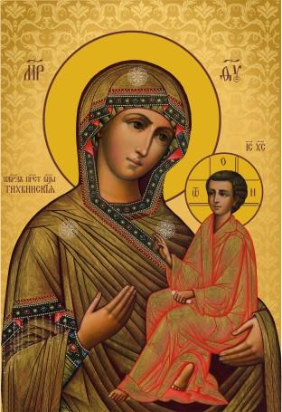 Ікона православна Свята Тихвинська  Богородиця